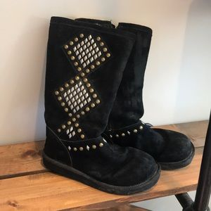 Black Uggs Boots- Studded